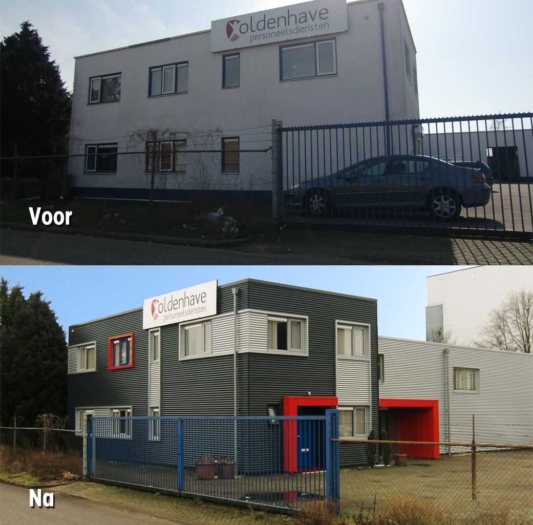 voor na gevelbeplating gelderland